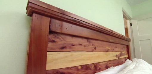 DIY Headboard for Your Bedroom   Today s Homeowner Finished cedar headboard