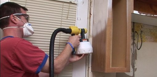 Using An Airless Sprayer To Paint Kitchen Cabinets