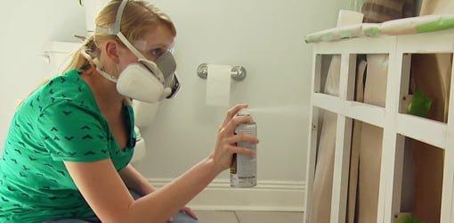 Spray Painting Over A Melamine Coated Bathroom Vanity