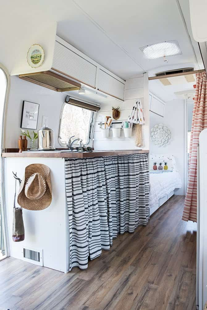 Living Beautifully in Her She Shed: How a Vintage Camper Became Her Personal Oasis