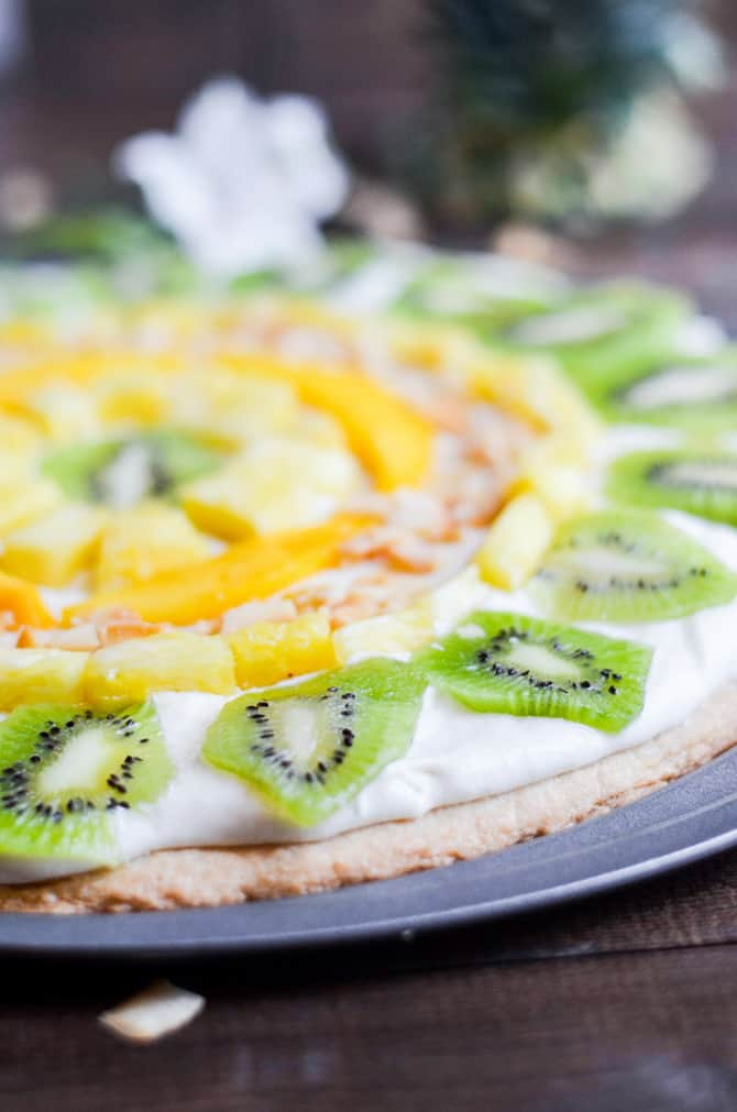 Tropical Fruit Pizza Perfect for Summer