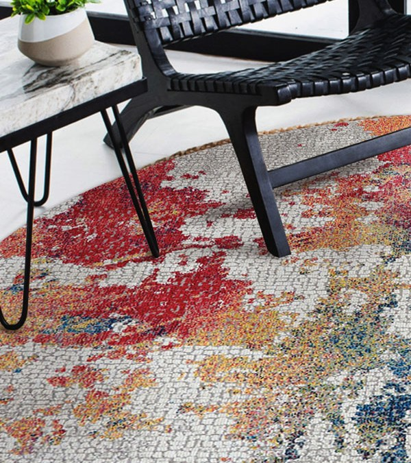 Enter to Win a Turkish Jewel Tone Contemporary Rug from Khazai Rugs!