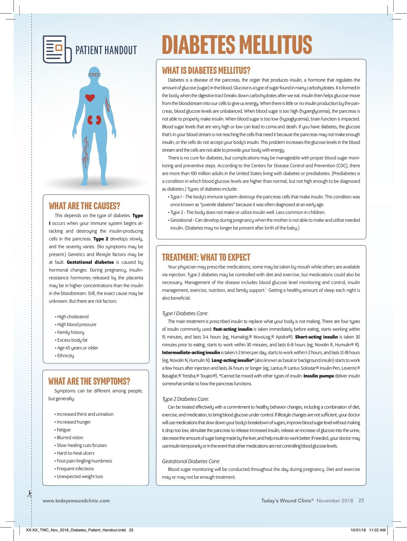 Patient Handout Diabetes Mellitus