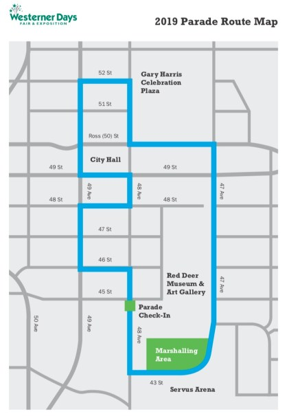 Westerner Days Parade Map 2019
