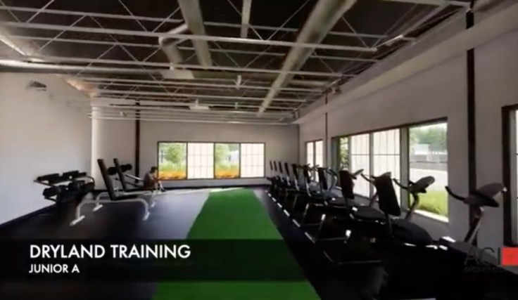 Junior A players workout room