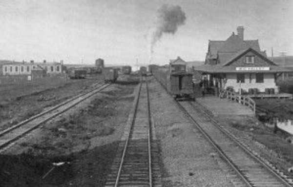 The Canadian Northern Railway's legacy at Big Valley, Alberta.