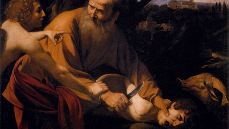 caravaggio binding of isaac