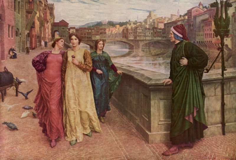 Dante and Beatrica by Henry Holiday