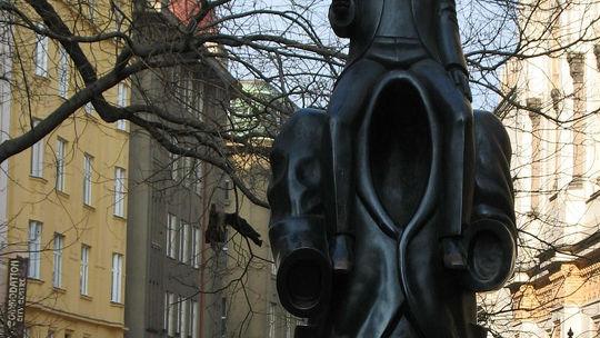 Kafka Prague statue