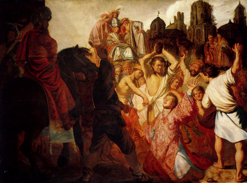 Rembrandt's stoning of stephen