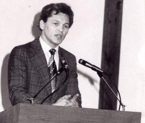Viktor preaching