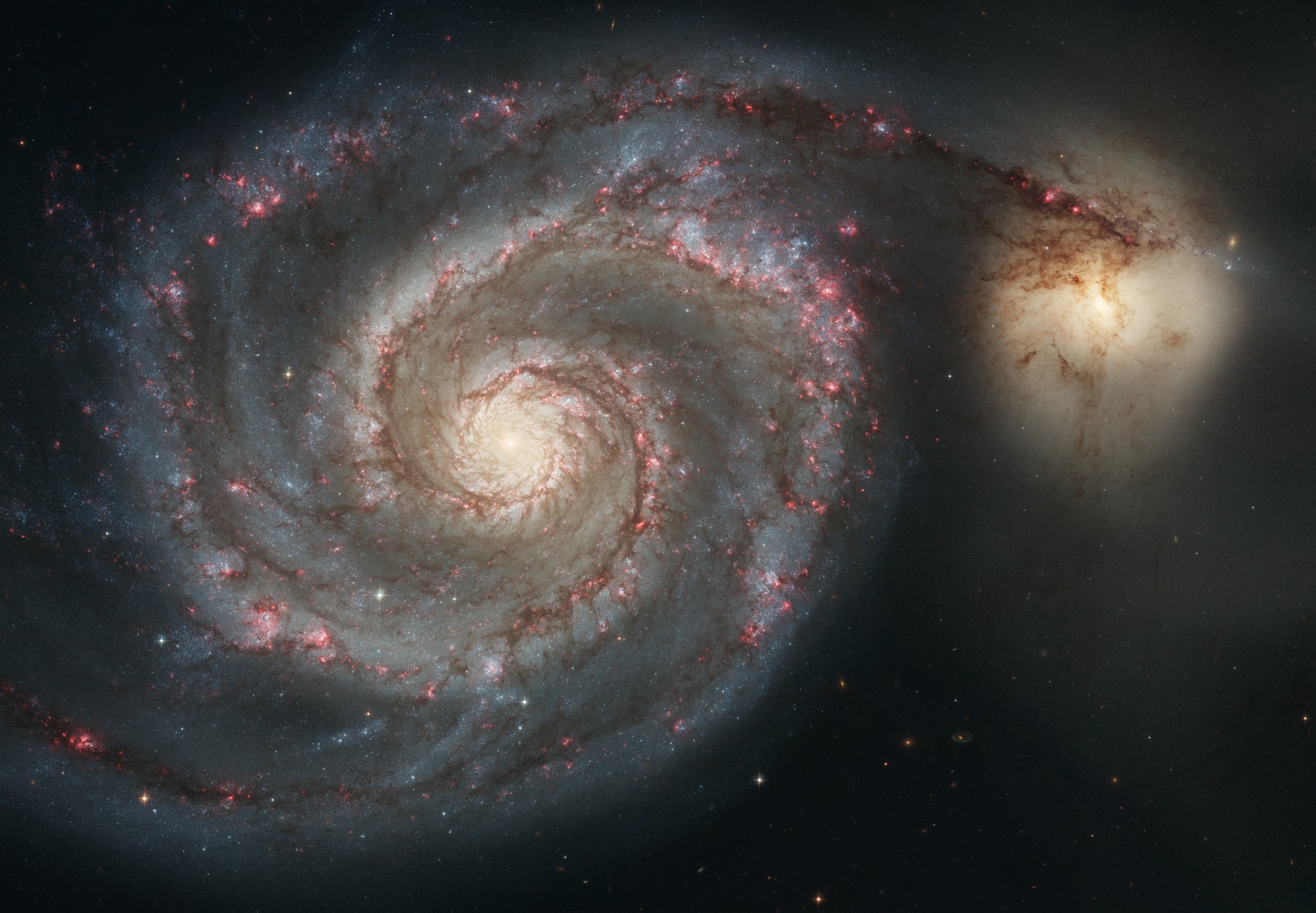 A Hubble photo of the Whirlpool Galaxy