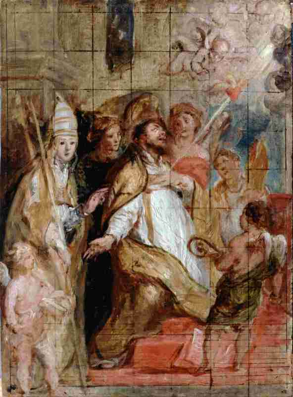 St. Augustine gives his heart