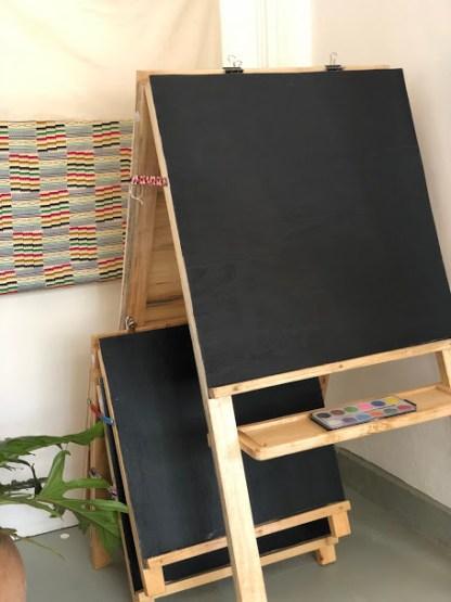 blackboard easel
