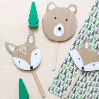 Cardboard Woodland Animal Puppets