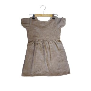 brown frock back