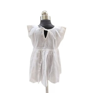 White frock with butterfly 1