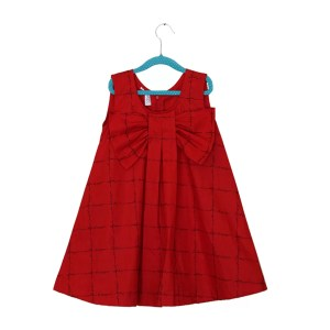 red checks frock