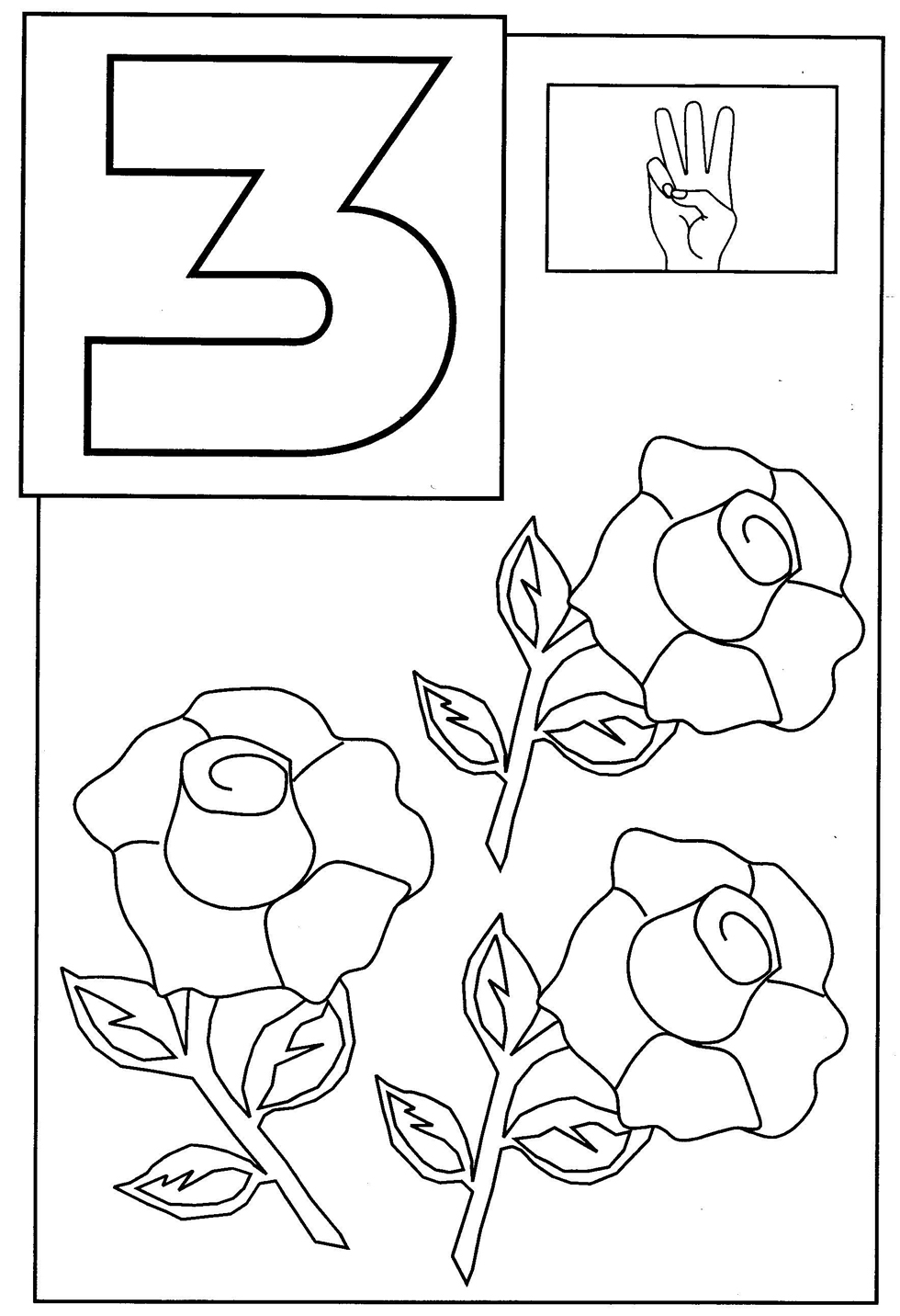 Toddler Coloring Pages | number coloring pages for kindergarten