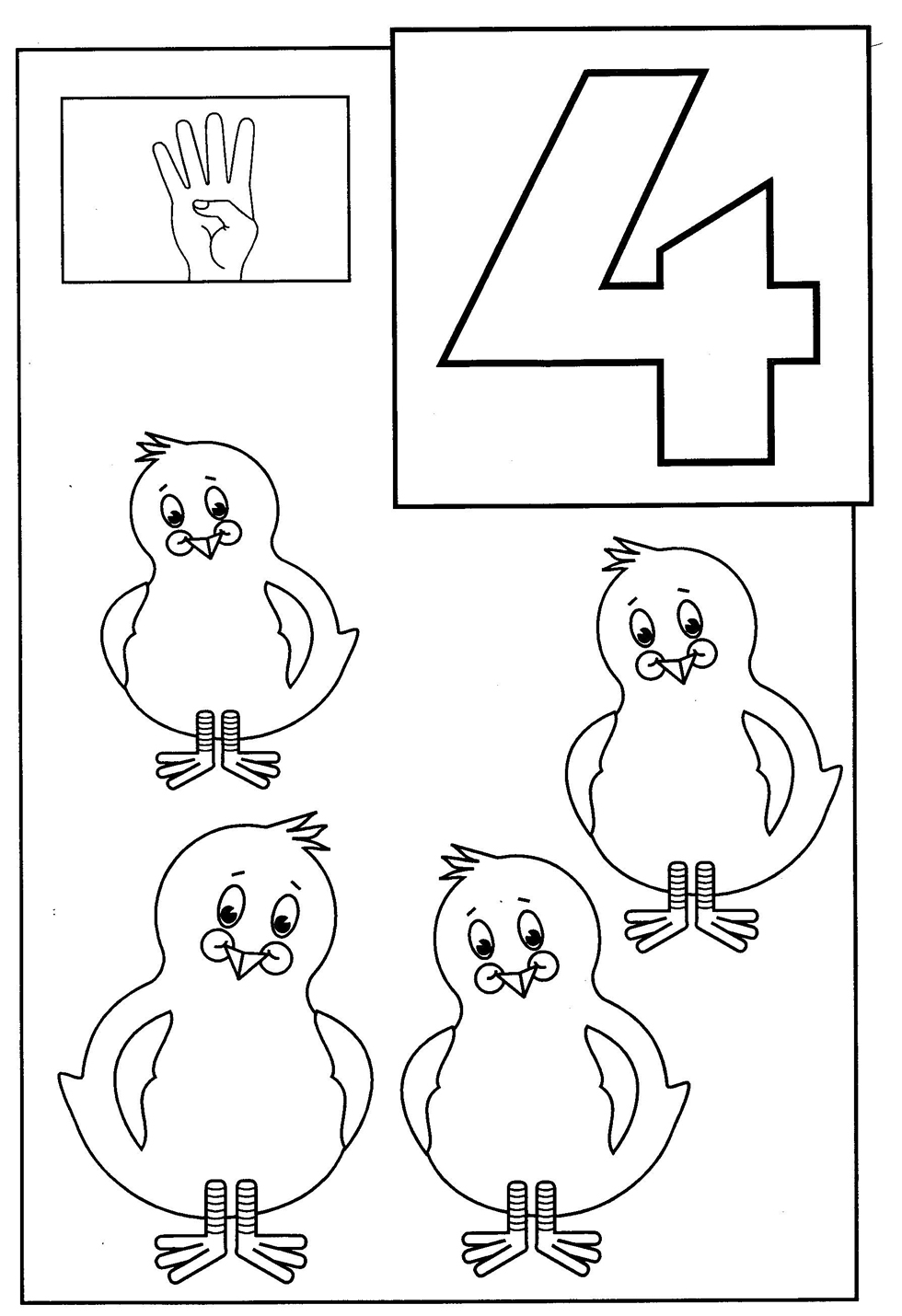 Toddler Coloring Pages | number coloring pages for toddlers