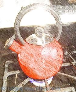 Shiny red whistling kettle - New York, IKEA