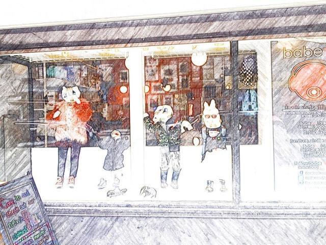 Good window display at Babesta children's clothing shop