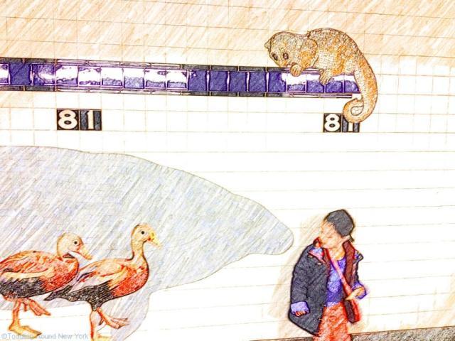 81st Street subway station mosaic