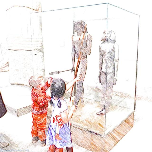 Wooden statues found in tombs