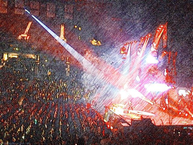 Ed Sheeran performing live at the Barclays Center, Broolyn