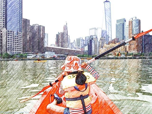 Free kayaking on the Hudson River