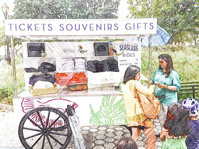 Seaglass' ticket and souvenir booth
