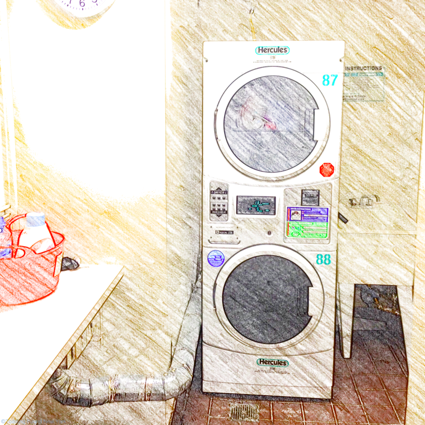 Hercules washing machine and tumble dryer in our communal laundry room