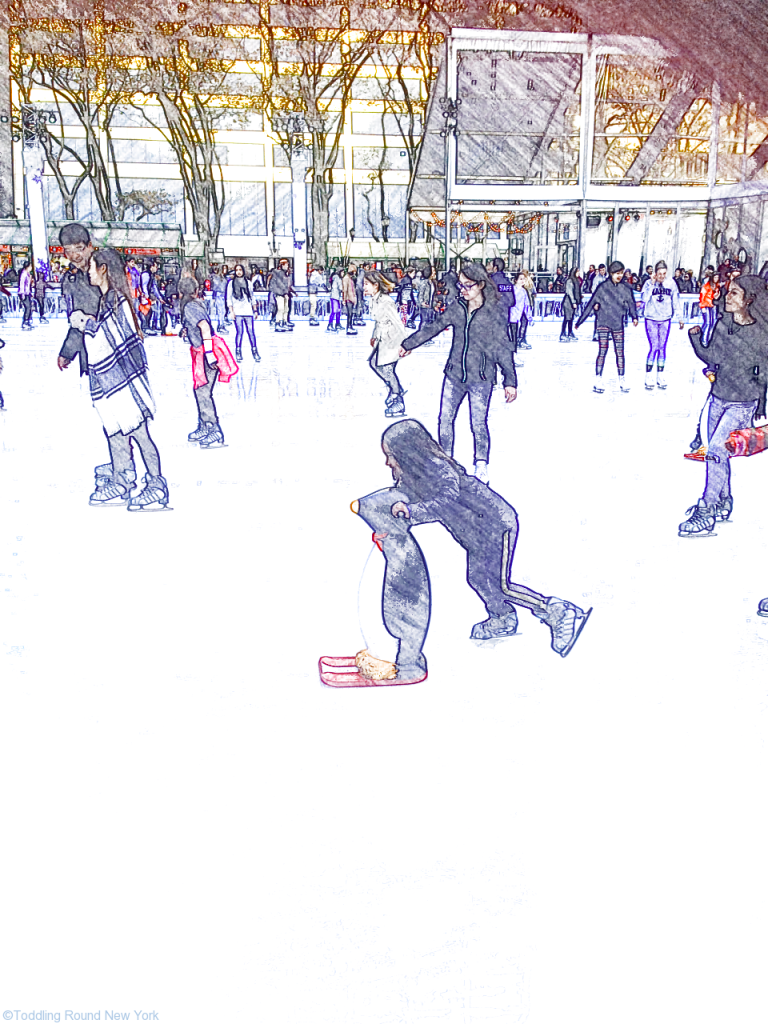 Bryant Park Winter Village - T ice skating