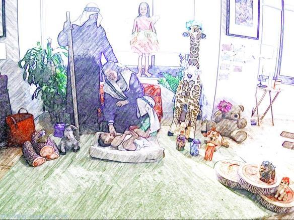 Homemade Nativity scene - Christmas