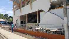 Exterior damage of Farmer's Market building in Bahia