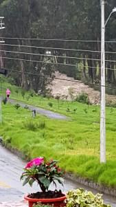 Yanuncay river running full