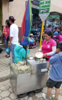 Woman selling quail eggs