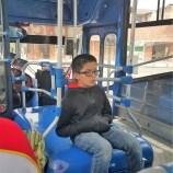 Boy sleeping on our bus ride