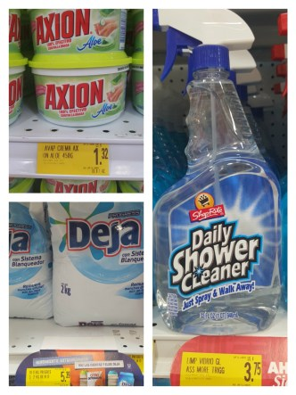Dish soap, Laundry soap, and Cleaners