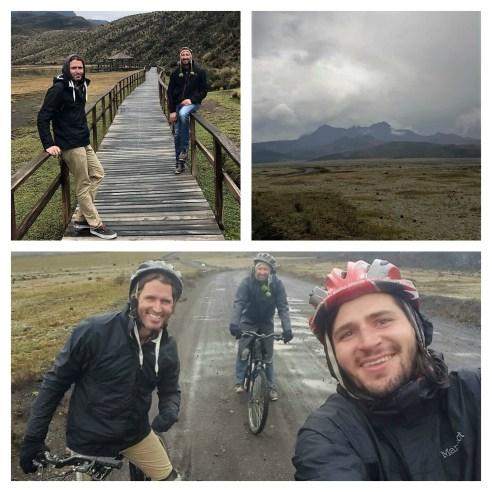 Biking cotopaxi volcano