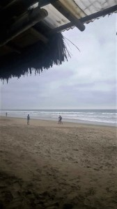 Cloudy beach day in Montanita