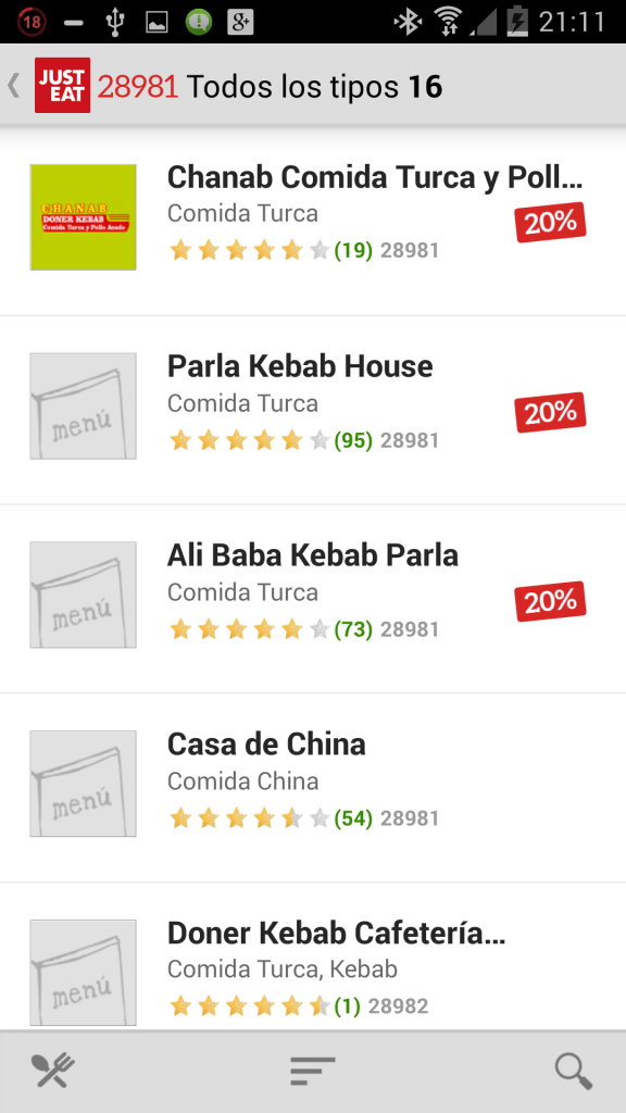 Just Eat Restaurantes