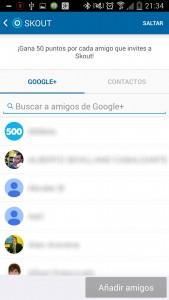 Skout invitar amigos Google+
