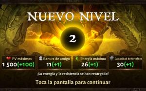 Dungeon Hunter V subir de nivel