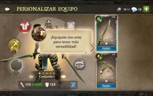 Dungeon Hunter V equipate un nueva arma