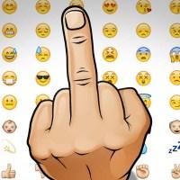 Saca tu dedo corazón en WhatsApp (Peineta)