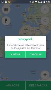 WazyPark Ajustes GPS