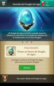 Dragons Of Atlantis conseguir Huevo de Agua