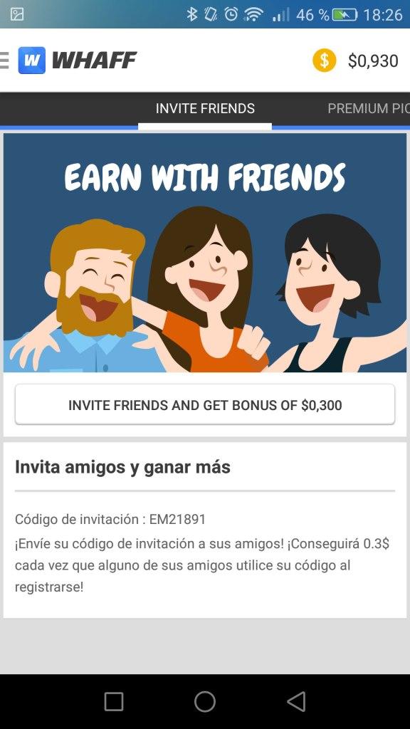 whaff invita amigos