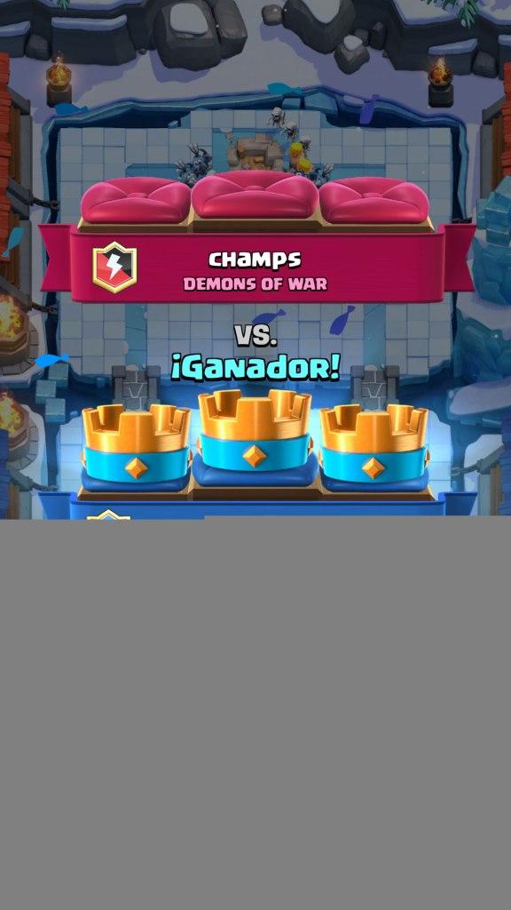 Clash Royale ganador 3 coronas